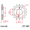 Kép 1/2 - JTF1401.13_JTF1401-13_JT_suzuki_ltz400_ltr450_jtsprocket