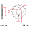 Kép 1/2 - JTF280.13_JTF280-13_JT_honda_xl250_jtsprocket