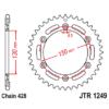 Kép 1/2 - JTR1249.51_JTR1249-51_JT_honda_jtsprocket