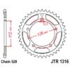 Kép 1/2 - JTR1316.41_JTR1316-41_JT_honda_jtsprocket