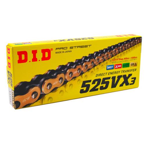 D.I.D 525VX3 118L GOLD