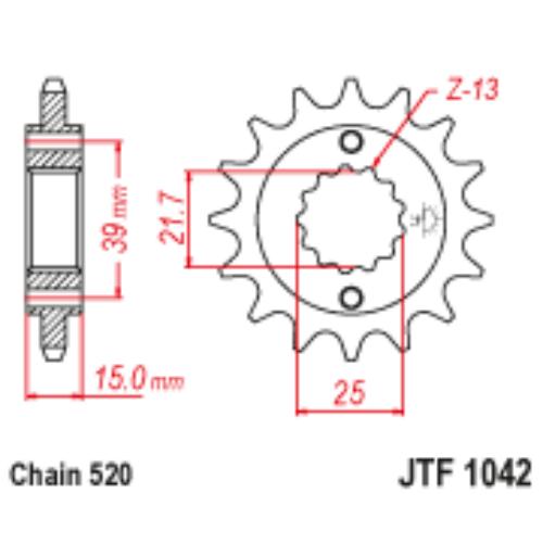 JTF1042.14_JTF1042-14_kymco_JT_jtsprocket