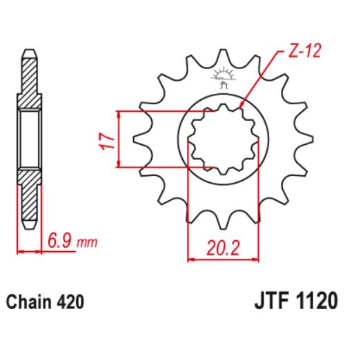 JTF1120.12_JTF1120-12_JT_aprilia_betamotor_cpi_fantic_jtsprocket