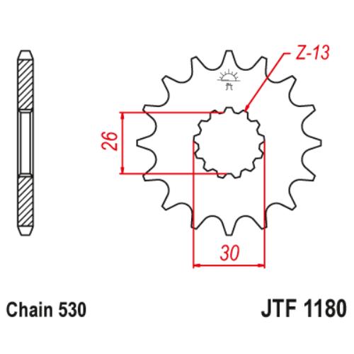 JTF1180.18_JTF1180-18_JT_triumph_jtsprocket