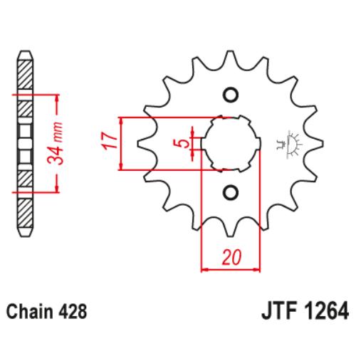 JTF1264.15_JTF1264-15_JT_honda_kymco_jtsprocket