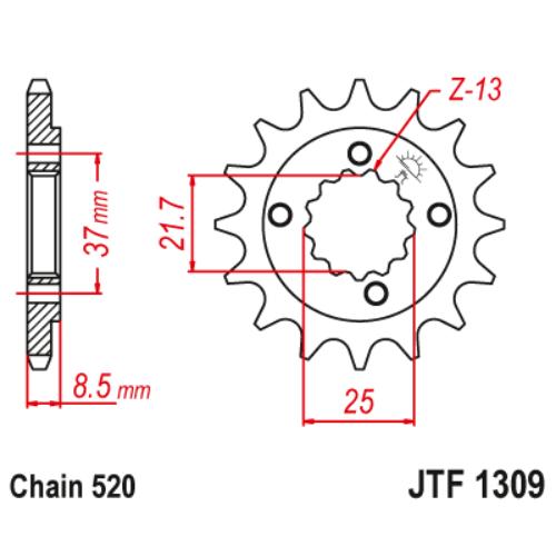 JTF1309.14_JTF1309-14_JT_honda_trx400_xr600_polaris_predator_jtsprocket