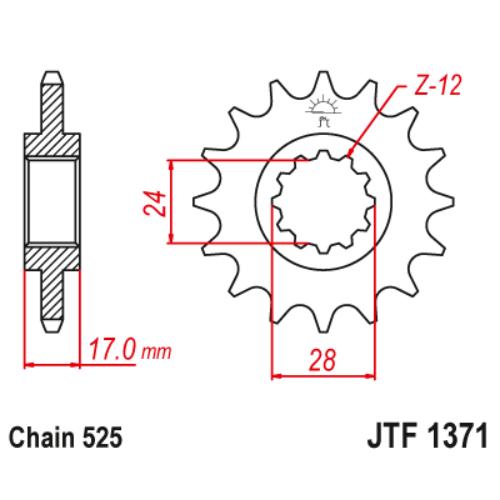 JTF1371.14_JTF1371-14_JT_hornet_cb600_cbf600_cbr600_jtsprocket
