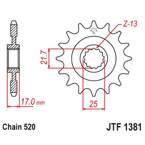 JTF1381RB.15_JTF1381-15RB_JT_honda_cb500_cbr500_jtsprocket