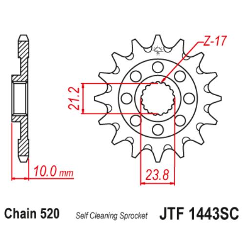 JTF1443SC.13_JTF1443-13SC_JT_suzuki_rmz450_jtsprocket
