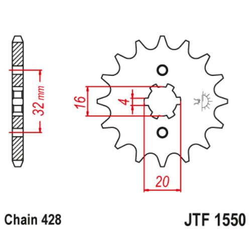 JTF1550.14_JTF1550-14_JT_betamotor_husqvarna_yamaha_jtsprocket