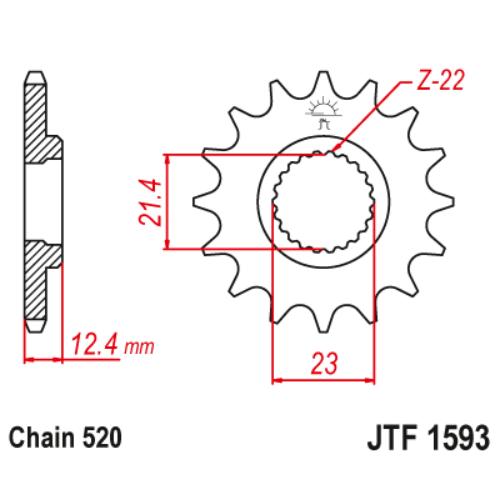 JTF1593.14_JTF1593-14_JT_yamaha_yfm250_jtsprocket