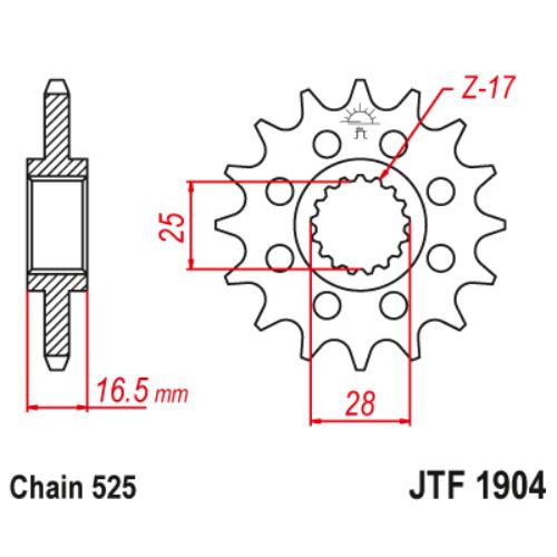 JTF1904RB.17_JTF1904-17RB_JT_ktm_950_990_1050_1090_1190_1290_jtsprocket