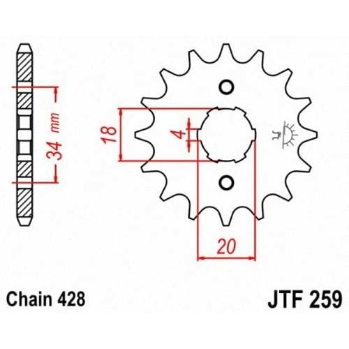 JTF259.16_JTF259-16_JT_honda_kymco_jtsprocket