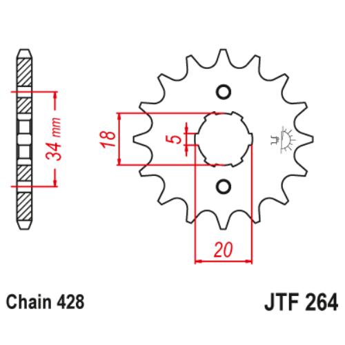 JTF264.14_JTF264-14_jt_honda_jtsprocket
