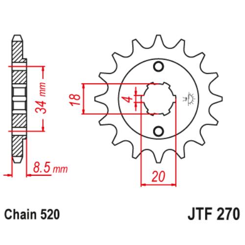 JTF270.13_JTF270-13_JT_honda_jtsprocket