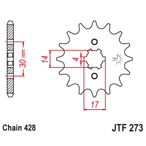 JTF273.14_JTF273-14_JT_honda_wave_innova_jtsprocket