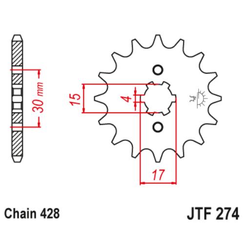 JTF274.14_JTF274-14_JT_honda_crf100_xr100_jtsprocket