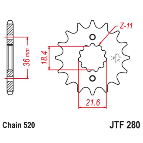 JTF280.13_JTF280-13_JT_honda_xl250_jtsprocket