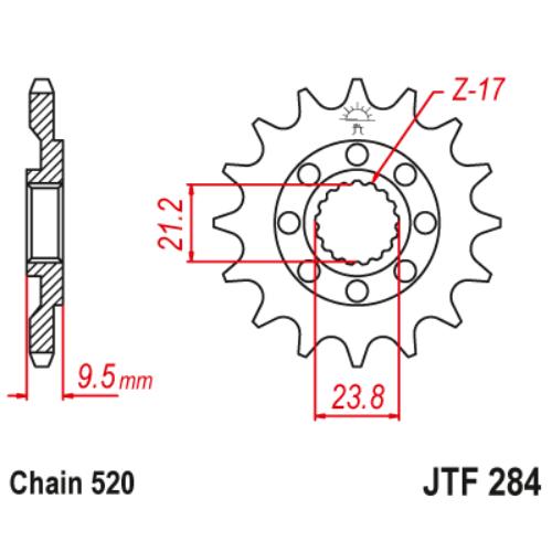JTF284.12_JTF284-12_JT_honda_trx450_cr250_crf450_jtsprocket
