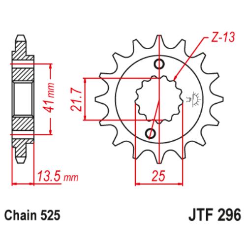 JTF296.15_JTF296-15_jt_transalp_jtsprocket