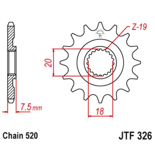 JTF326.13_JTF326-13_JT_honda_cr125_jtsprocket