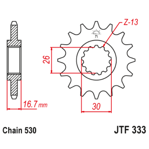 JTF333RB.16_JTF333-16RB_JT_honda_vf750_vfr750_cbr900_cbr929_cbr954_cbf1000_cbr1000_vtr1000_jtsprocket