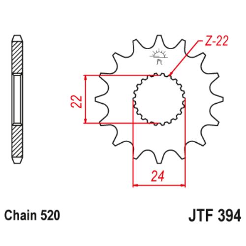 JTF394.17_JTF394-17_JT_aprilia_RS125_jtsprocket