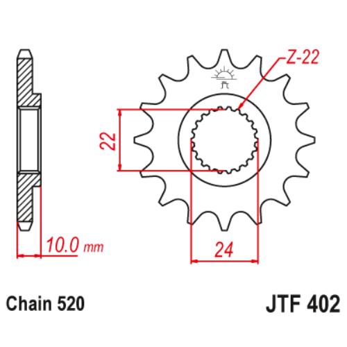 JTF402.16_JTF402-16_JT_aprilia_tuareg_pegaso_jtsprocket