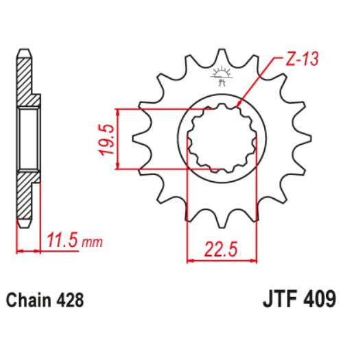 JTF409.14_JTF409-14_JT_suzuki_dr125_jtsprocket