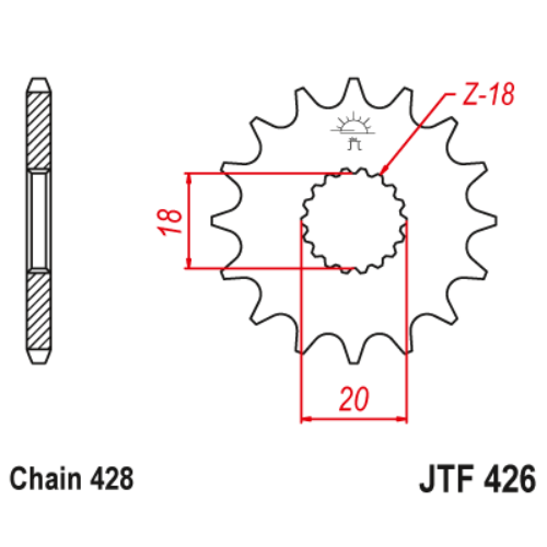 JTF426.14_JTF426-14_JT_hyosung_suzuki_jtsprocket