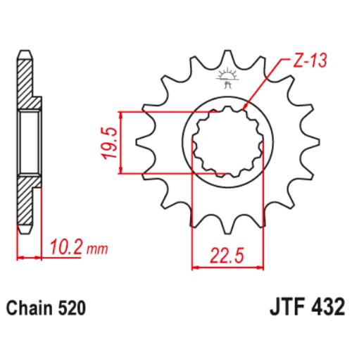 JTF432.12_JTF432-12_JT_suzuki_ltr250_jtsprocket
