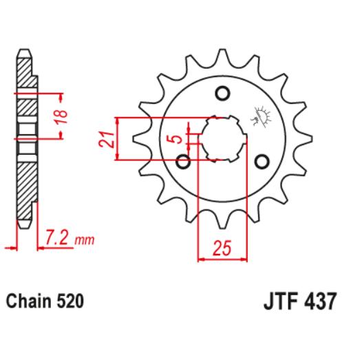 JTF437.16_JTF437-16_JT_suzuki_dr600_jtsprocket