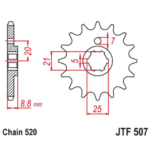 JTF507.13_JTF507-13_JT_husqvarna_kawasaki_jtsprocket
