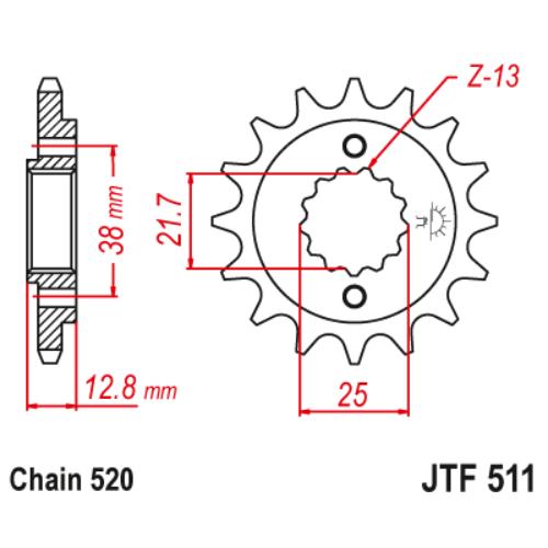 JTF511.14_JTF511-14_JT_kawasaki_jtsprocket