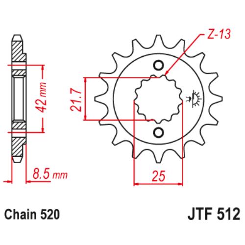 JTF512.15_JTF512-15_JT_kawasaki_suzuki_yamaha_jtsprocket
