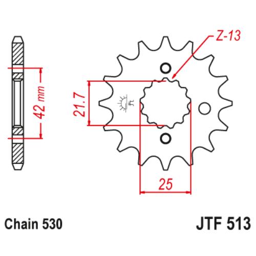 JTF513.15_JTF513-15_JT_kawasaki_suzuki_yamaha_jtsprocket