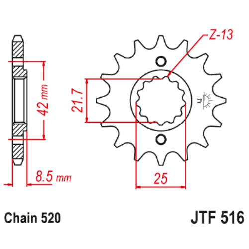 JTF516.14_JTF516-14_JT_kawasaki_jtsprocket