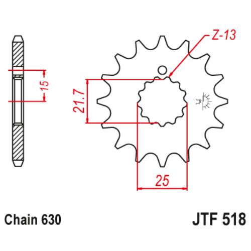 JTF518.15_JTF518-15_JT_yamaha_jtsprocket