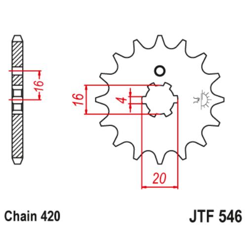 JTF546.15_JTF546-15_JT_yamaha_pw_jtsprocket