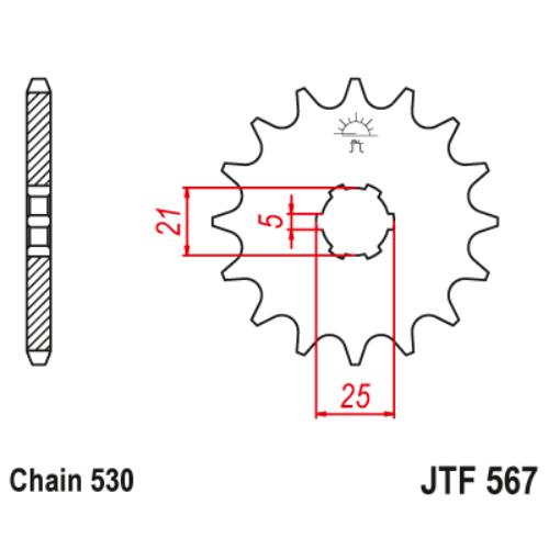 JTF567.16_JTF567-16_JT_yamaha_jtsprocket