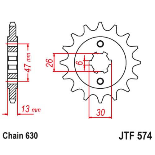 JTF574.16_JTF574-16_JT_yamaha_jtsprocket