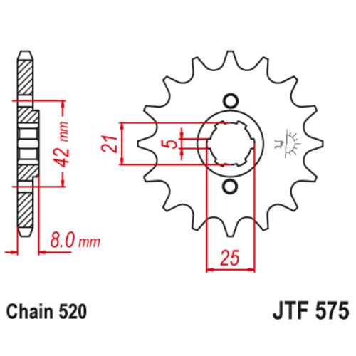 JTF575.13_JTF575-13_JT_yamaha_jtsprocket