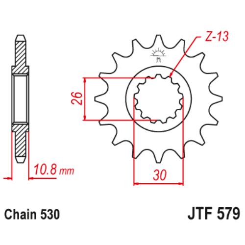 JTF579.15_JTF579-15_JT_yamaha_jtsprocket