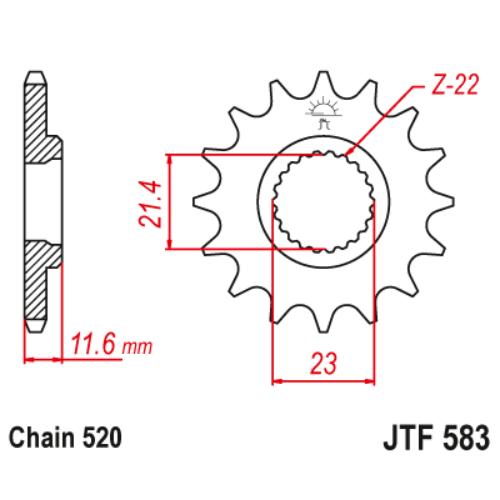 JTF583.13_JTF583-13_JT_yamaha_jtsprocket