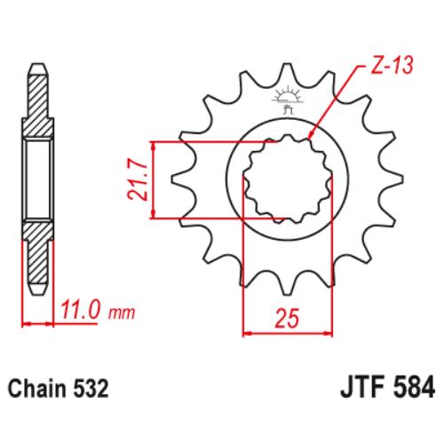 JTF584.16_JTF584-16_JT_yamaha_jtsprocket