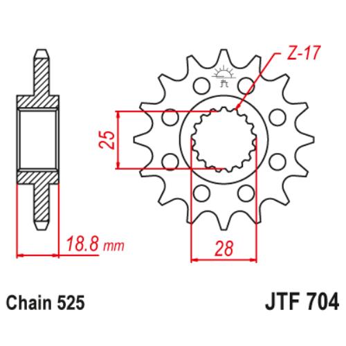 JTF704.17_JTF704-17_JT_aprilia_jtsprocket