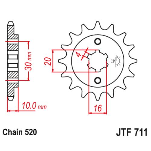 JTF711.12_JTF711-12_JT_cagiva_jtsprocket