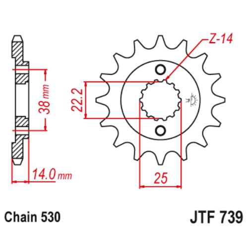 JTF739.15_JTF739-15_JT_cagiva_jtsprocket