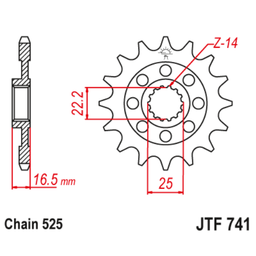 JTF741RB.15_JTF741-15RB_JT_ducati_jtsprocket