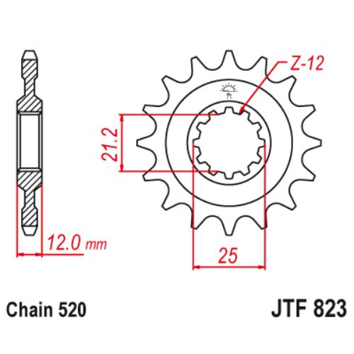 JTF823.15_JTF823-15_JT_husqvarna_jtsprocket